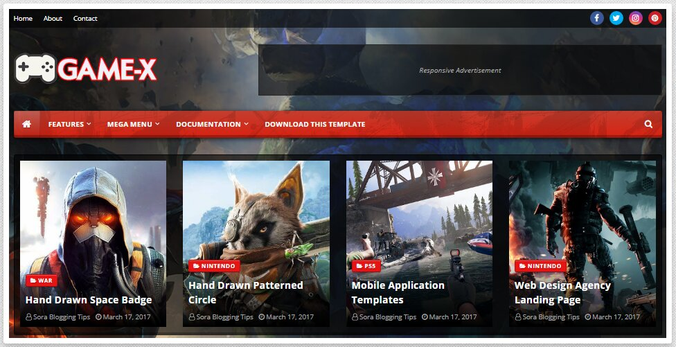 Game-X-Blogger-Template