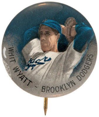 A Whit Wyatt Vintage Pin — The Dodger Headhunter