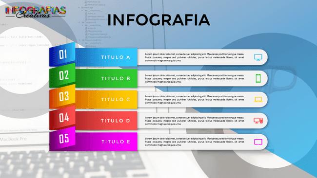Plantilla de infografía con movimiento de cinco pasos