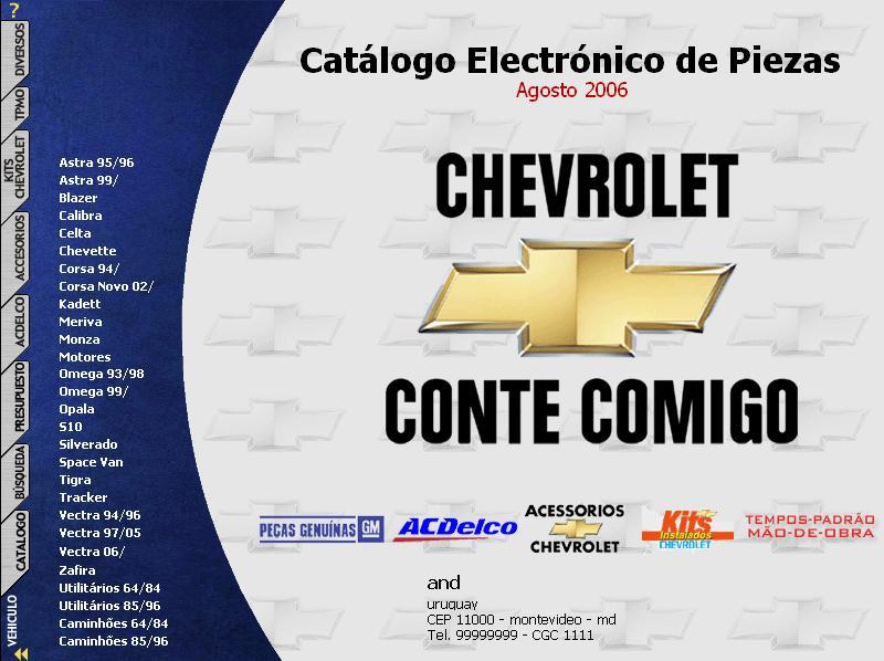 Manual despiece chevrolet catalogo de piezas for Piezas de fontaneria catalogo