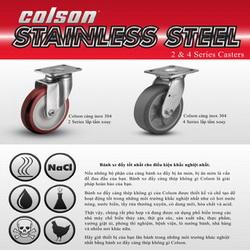 Catalog bánh xe đẩy càng inox 304 Colson www.banhxedayhang.net