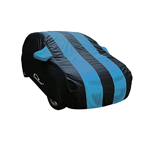 Rs,910/- Autofurnish Stylish Stripe Car Body Cover for Regular Sedan Cars - Arc Aqua Blue