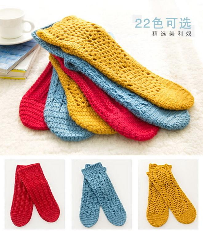 Crochet Socks - colored - free patterns and step by step tutorial videos is available