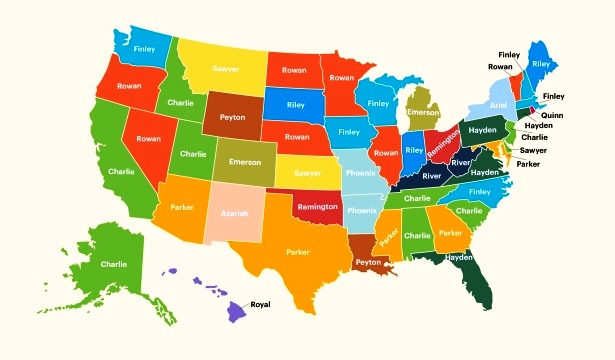 The Most Popular Gender-Neutral Names by State in the Last Decade