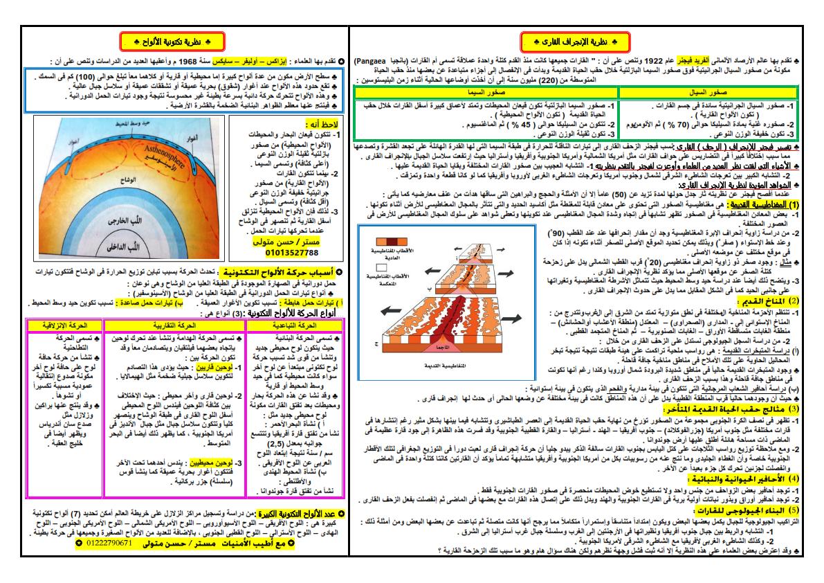 مراجعة ليلة امتحان الجيولوجيا والعلوم البيئية للثانوية العامة أ/ حسن متولي 777_007