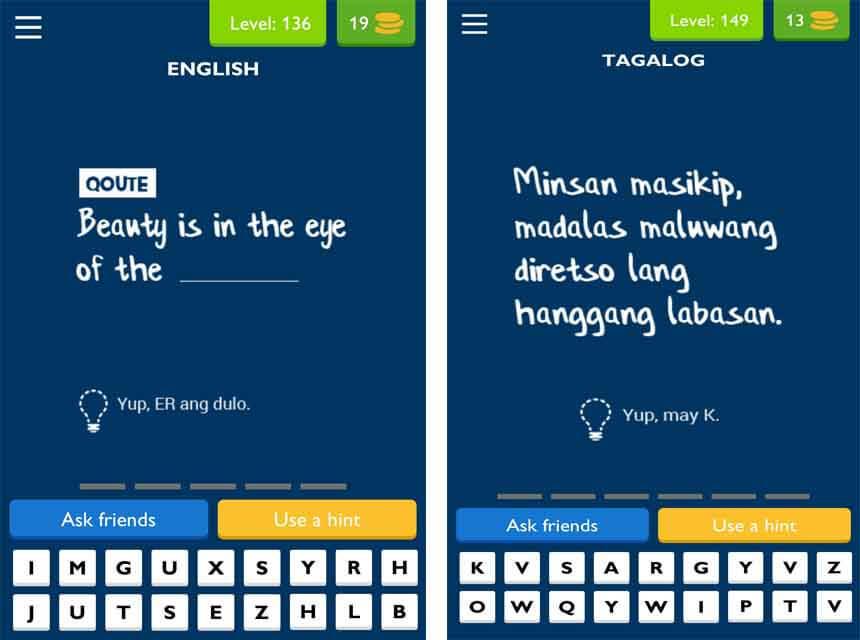Tagalog Logic Questions