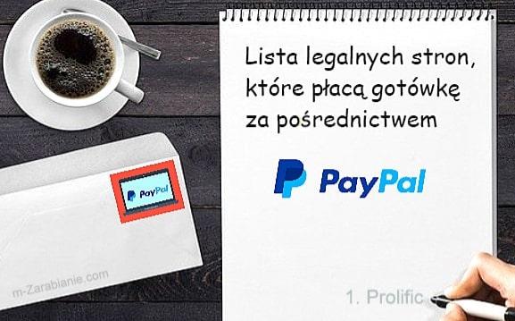 Lista TOP paneli z możliwością wypłaty na PayPal w 2020.