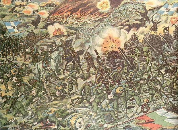 21 Ιουνίου 1913: Οι Έλληνες συντρίβουν τους Βούλγαρους στη μάχη Κιλκίς – Λαχανά, κατά τη διάρκεια του Β' Βαλκανικού Πολέμου