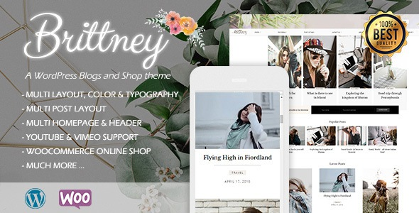 Brittney Responsive WordPress Blog Theme