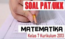 Download Soal PAT Matematika Kelas 7 SMP/MTs