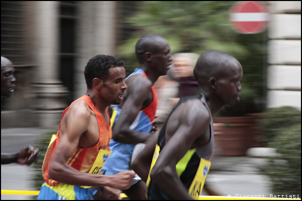 Fotografia di Gebru Girmay Birhanu alla Maratona di Roma 2013