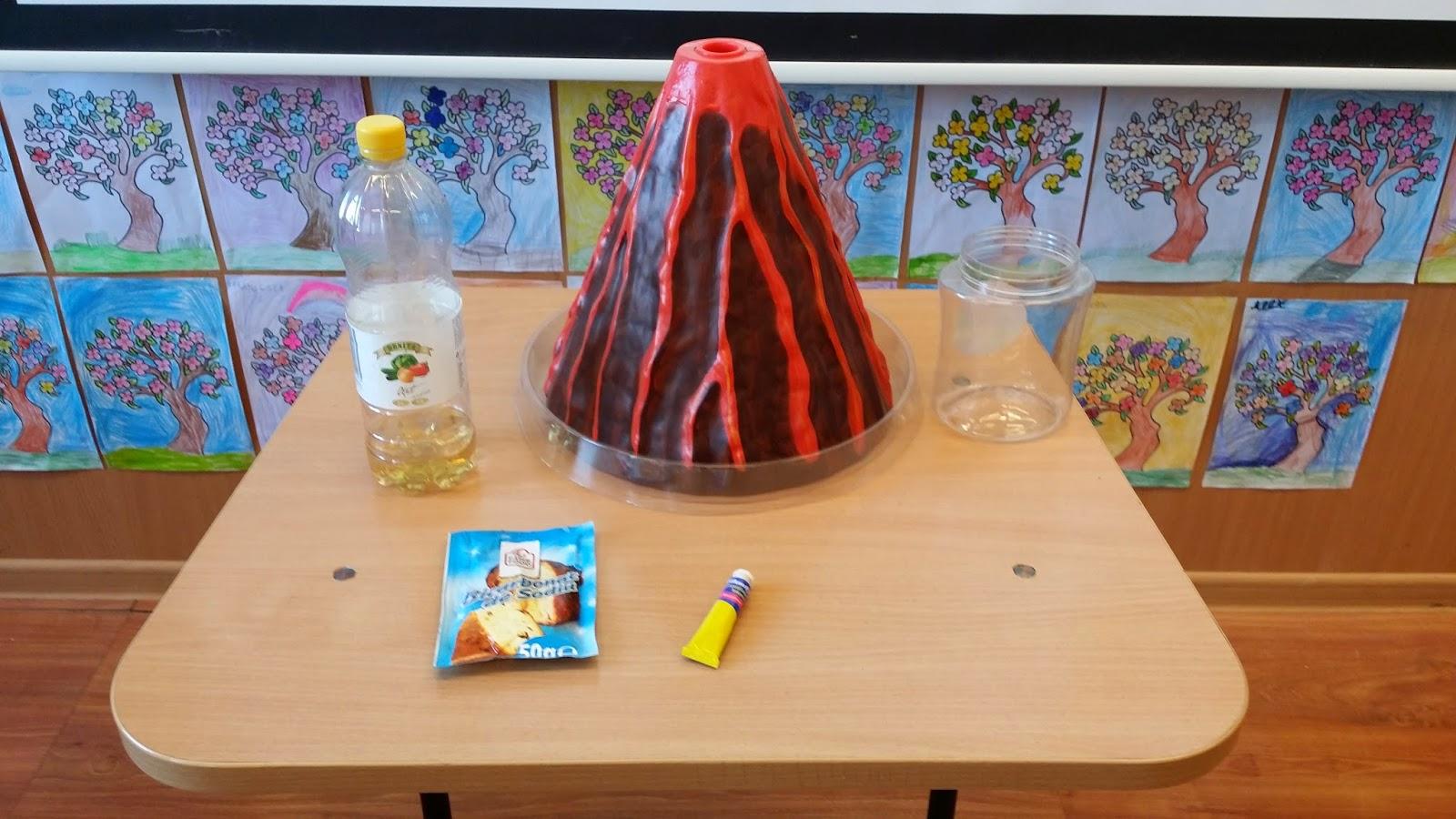 Experiment Volcano Baking Soda
