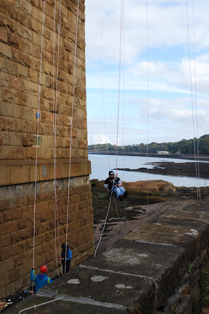 South Queensferry beach abseil