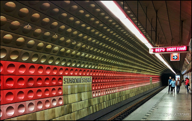 Inside the Dalek - At The Staromēstská Metro Subway Station in Prague, Czechia