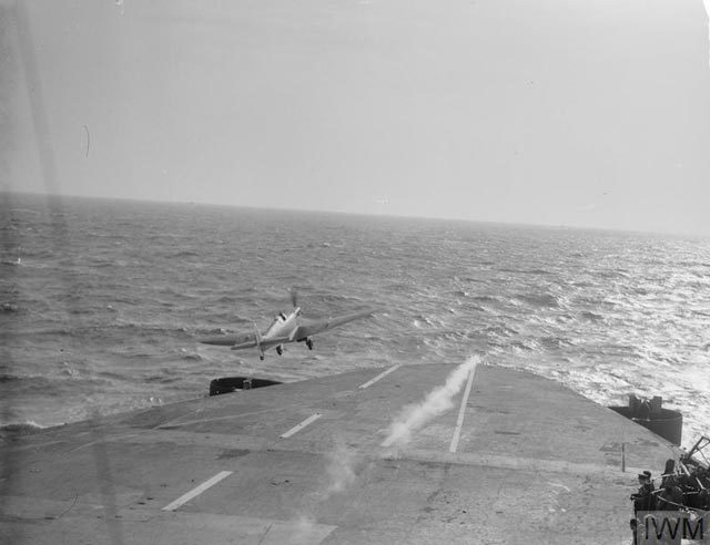 Spitfire on HMS Eagle, 19 March 1942 worldwartwo.filminspector.com