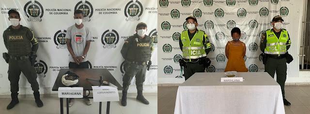 hoyennoticia.com, Cada uno llevaba mil gramos de marihuana