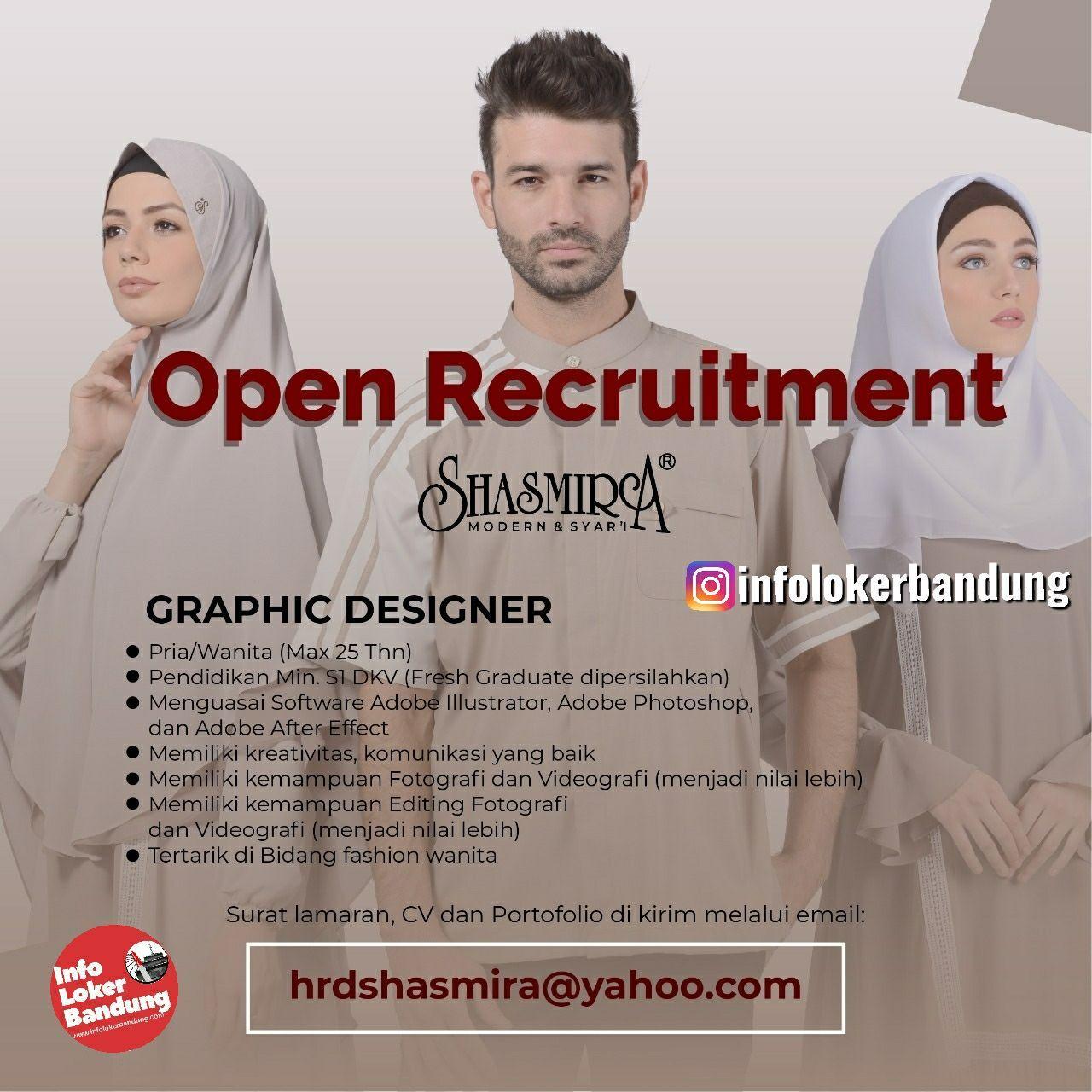 Lowongan Kerja Graphic Designer Shasmira Bandung Februari 2020