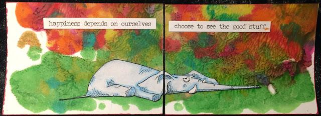 Elephant ATC (Artist Trading Card)