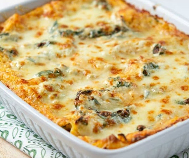 Roasted Butternut Squash & Spinach Lasagna