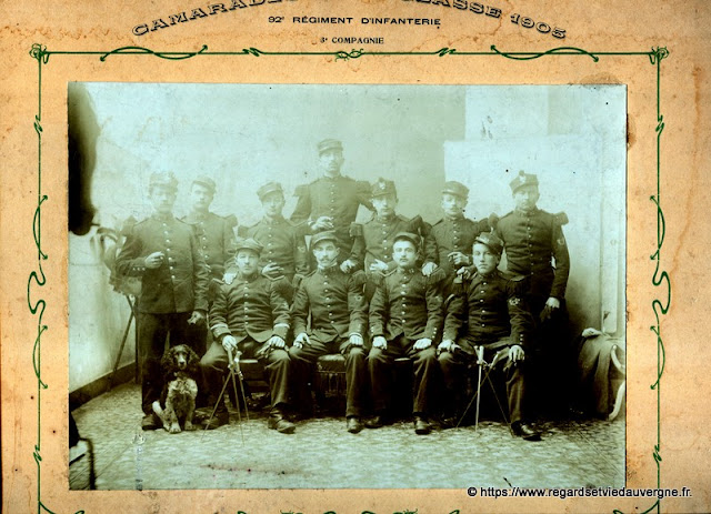 92 ème R-I classe 1905, 3 ème compagnie,  Clermont-Ferrand