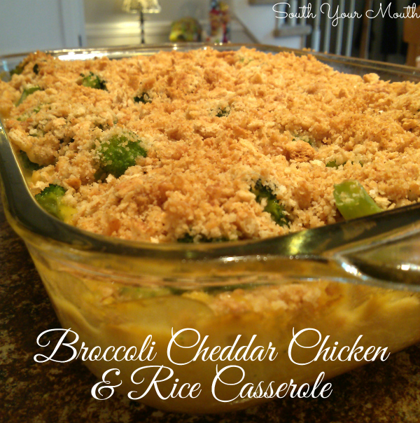 Broccoli Cheddar Chicken & Rice Casserole | A cheesy casserole recipe with broccoli, chicken and rice that requires no browning or precooking any of the ingredients. Much like Cracker Barrel's Broccoli Cheddar Chicken but with rice!