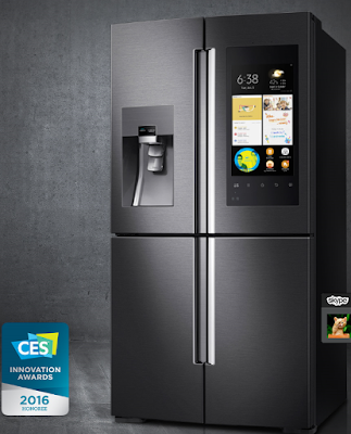 Samsung  smart fridge - Samsung family Hub innovation