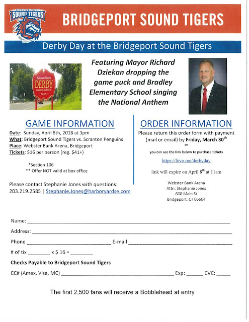 Derby Day slated at Bridgeport Sound Tigers Game