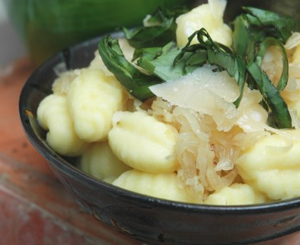 Gnocchi with shallots