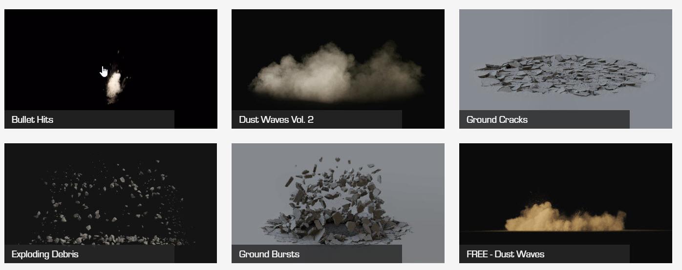 ActionVFX Ground Cracks Vol  2 and Exploding Debris Vol  2 VFX Stock