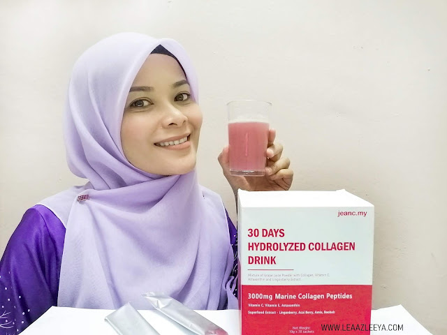 Jeanc 30 Days Hydrolyzed Collagen Drink Malaysia Skin Challenge