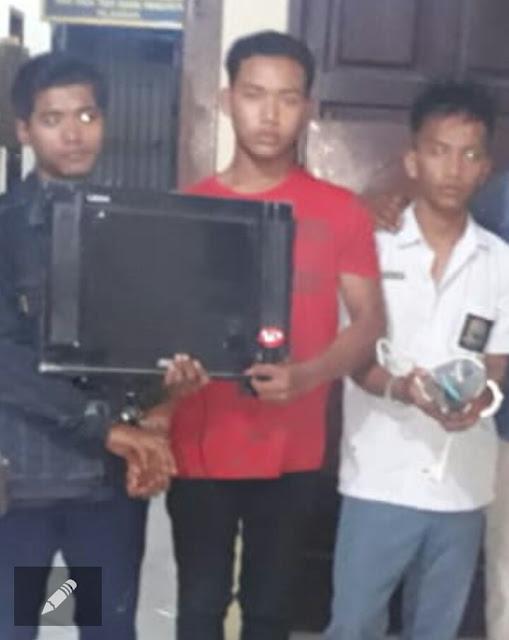 Ketiga tersangka pembobol rumah di Tanjungbalai.