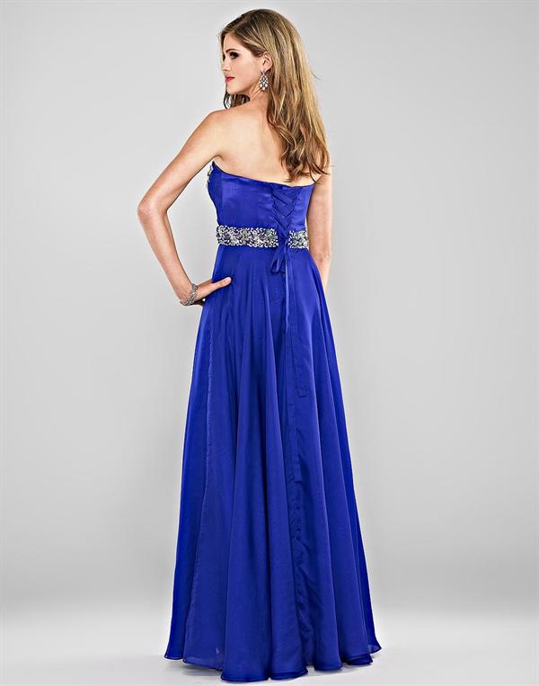 f698b2ddd Vestido de Fiesta de Noche de Color Azul que te Sorprenderá ...