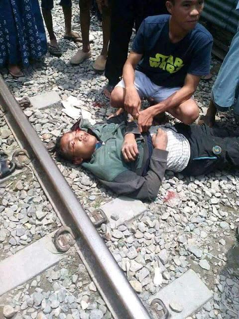 Korban ditabrak kereta api di Tanjungbalai.