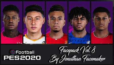 PES 2020 Facepack Vol 8 by Jonathan Facemaker