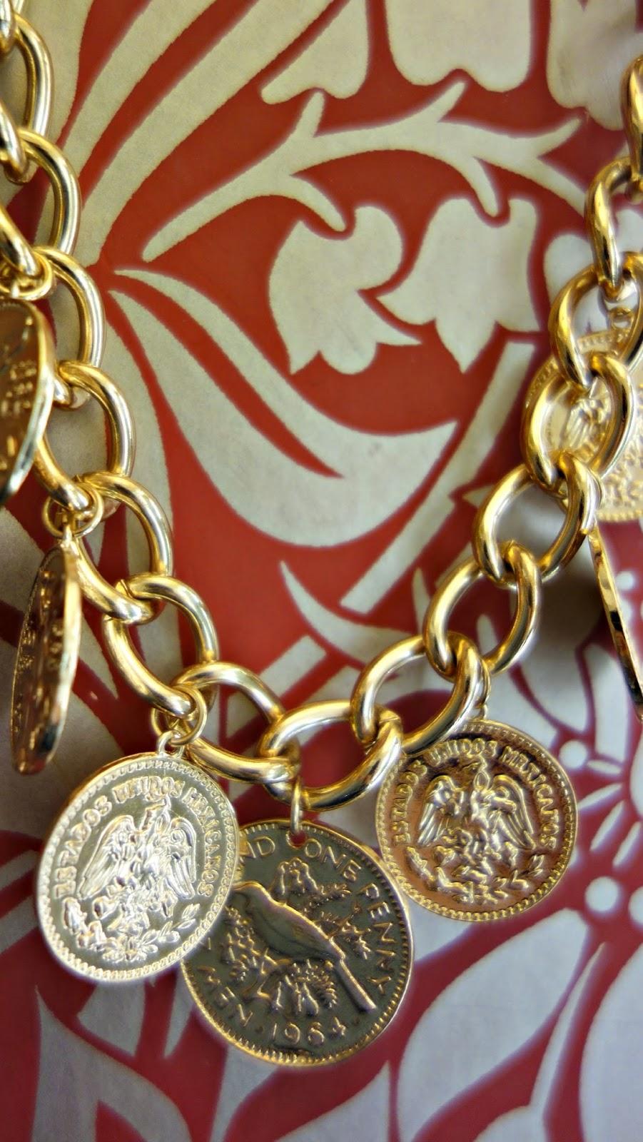 Reborn coin necklace