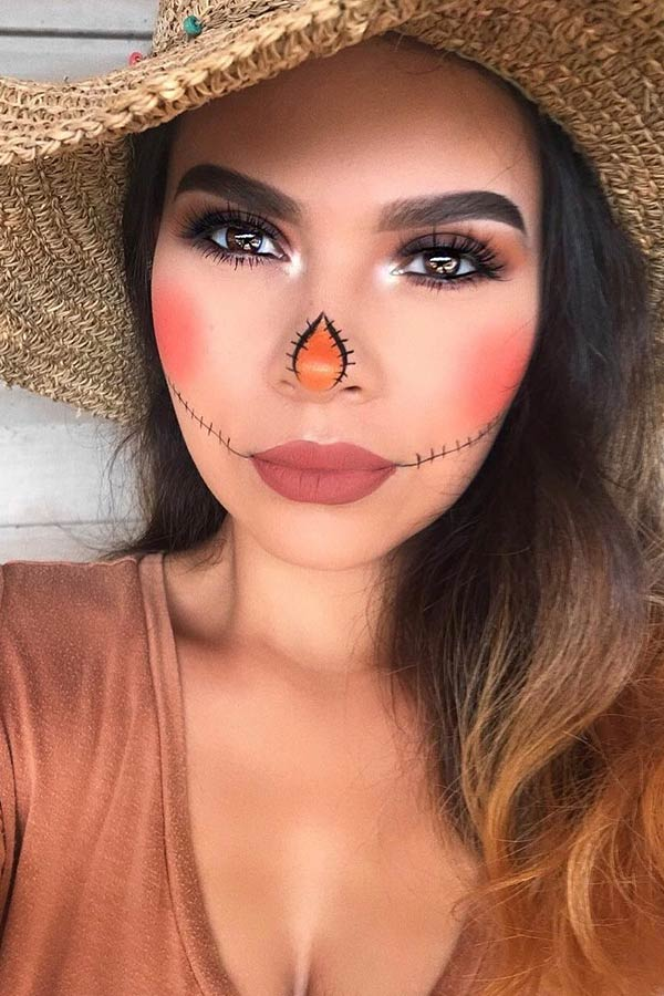 22+ Latest Scarecrow Halloween Makeup Ideas To Copy In 2019