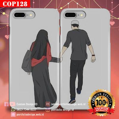 Model casing handphone couple pasangan muslim terbaru COP128