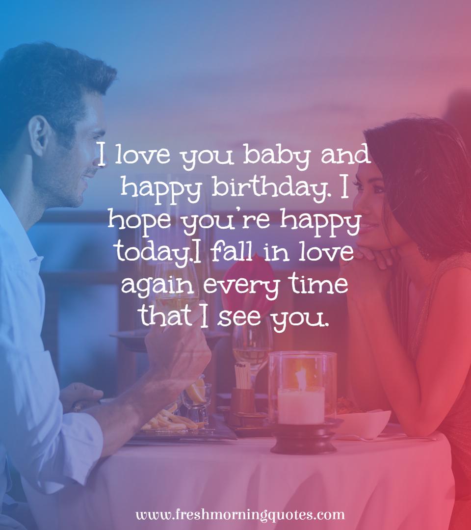 i love you baby happy birthday