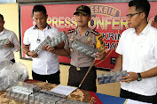 Team Reskrim Polres Labuhanbatu Berhasil Gagalkan 158 Kotak Peredaran Rokok Luffman Tanpa Bea Cukai.