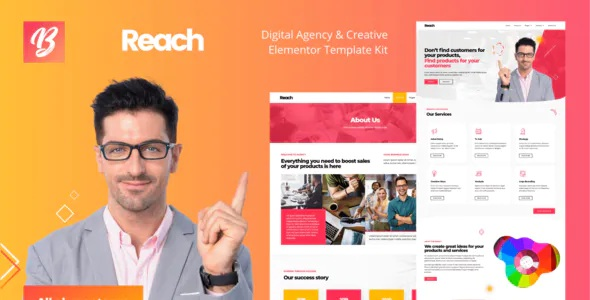 Best Digital Agency and Creative Elementor Template Kit
