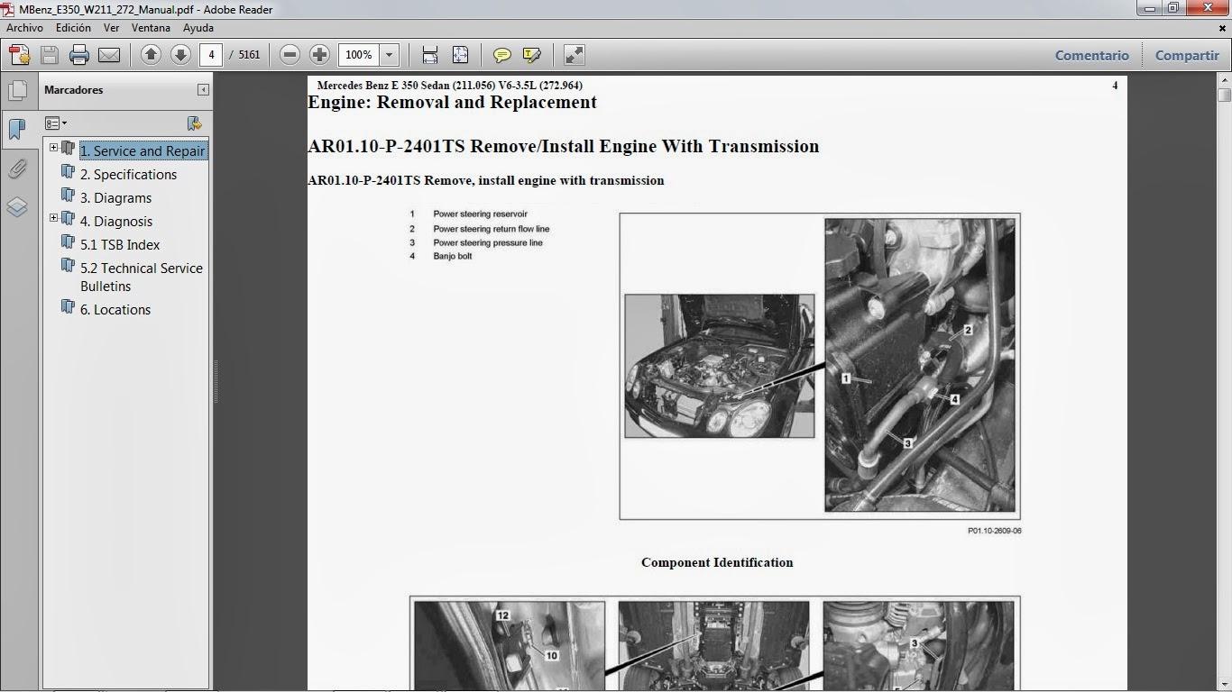 Manuales De Taller De Mercedes Benz  Mercedes Benz E350 2005