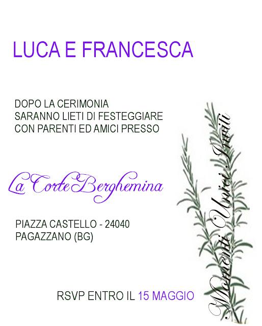 """INVITO+PROVENZALE Progetto - Partecipazione """"Je t'aime Provence""""Progetti grafici - Nozze"""