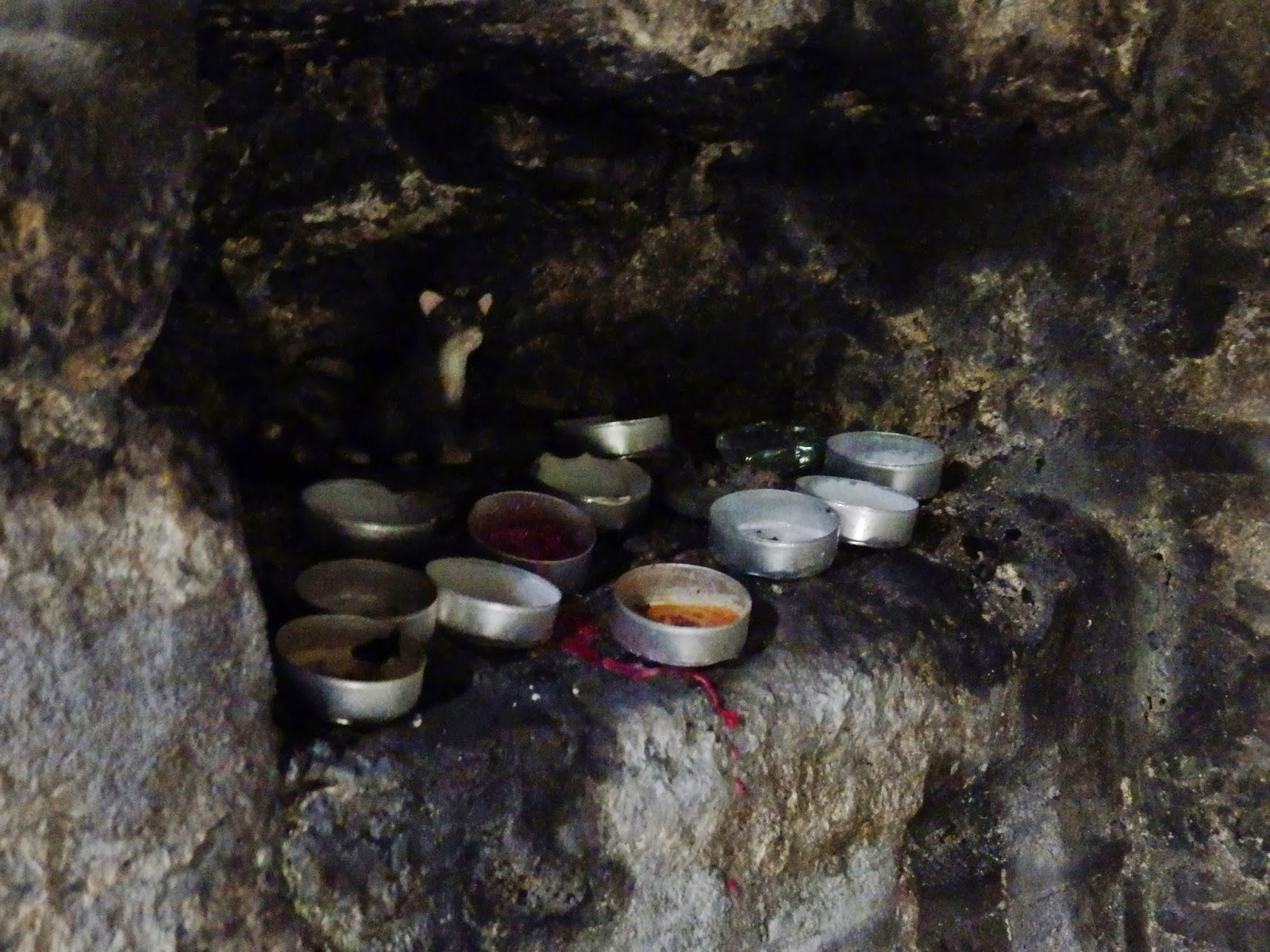 Inside Holy Well Chapel, Menacuddle, Cornwall