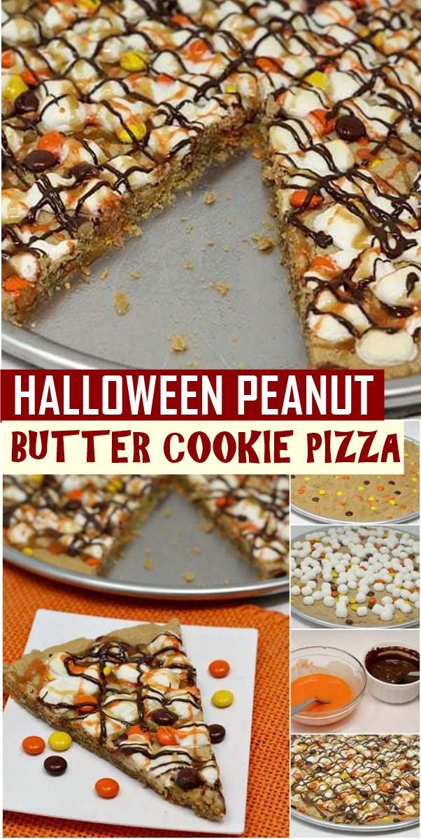 HALLOWEEN PEANUT BUTTER COOKIE PIZZA #halloweenrecipes