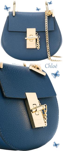 Chloé blue Drew leather crossbody bag #brilliantluxury