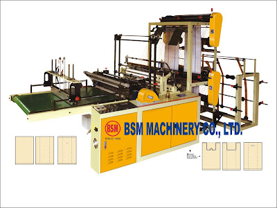 BOTTOM SEALING & SEMI T-SHIRT BAG MAKING MACHINE FOR Double Layer