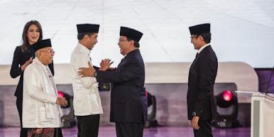 Jokowi Prabowo Capres Cawapres Pilpres 2019