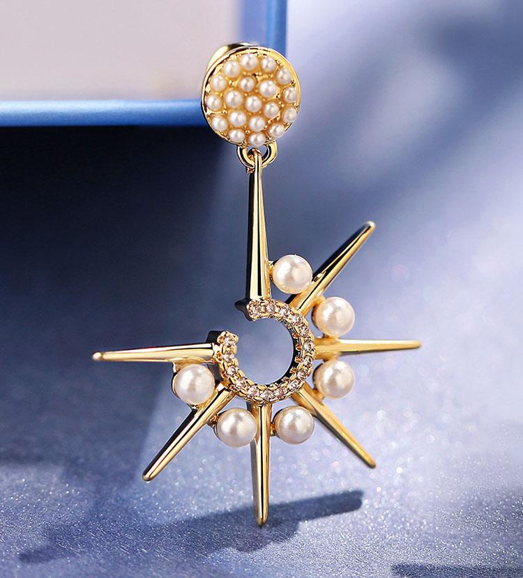 個性風北歐之日擬珍珠耳環