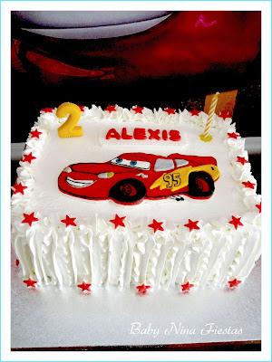 tarta de crema cars