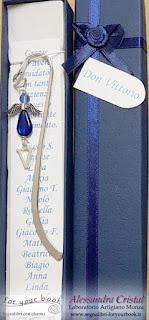 regalo prete sacerdote don segnalibro personalizzato iniziale